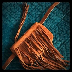 Handbags - Brown Fringe Belt Bag Hippie Cowgirl Fanny pack